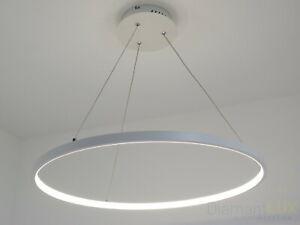 Luce Sospensione Design.Dettagli Su Lampadario Sospensione Design Moderno Cerchio Led O80 Luce Naturale Soggiorno