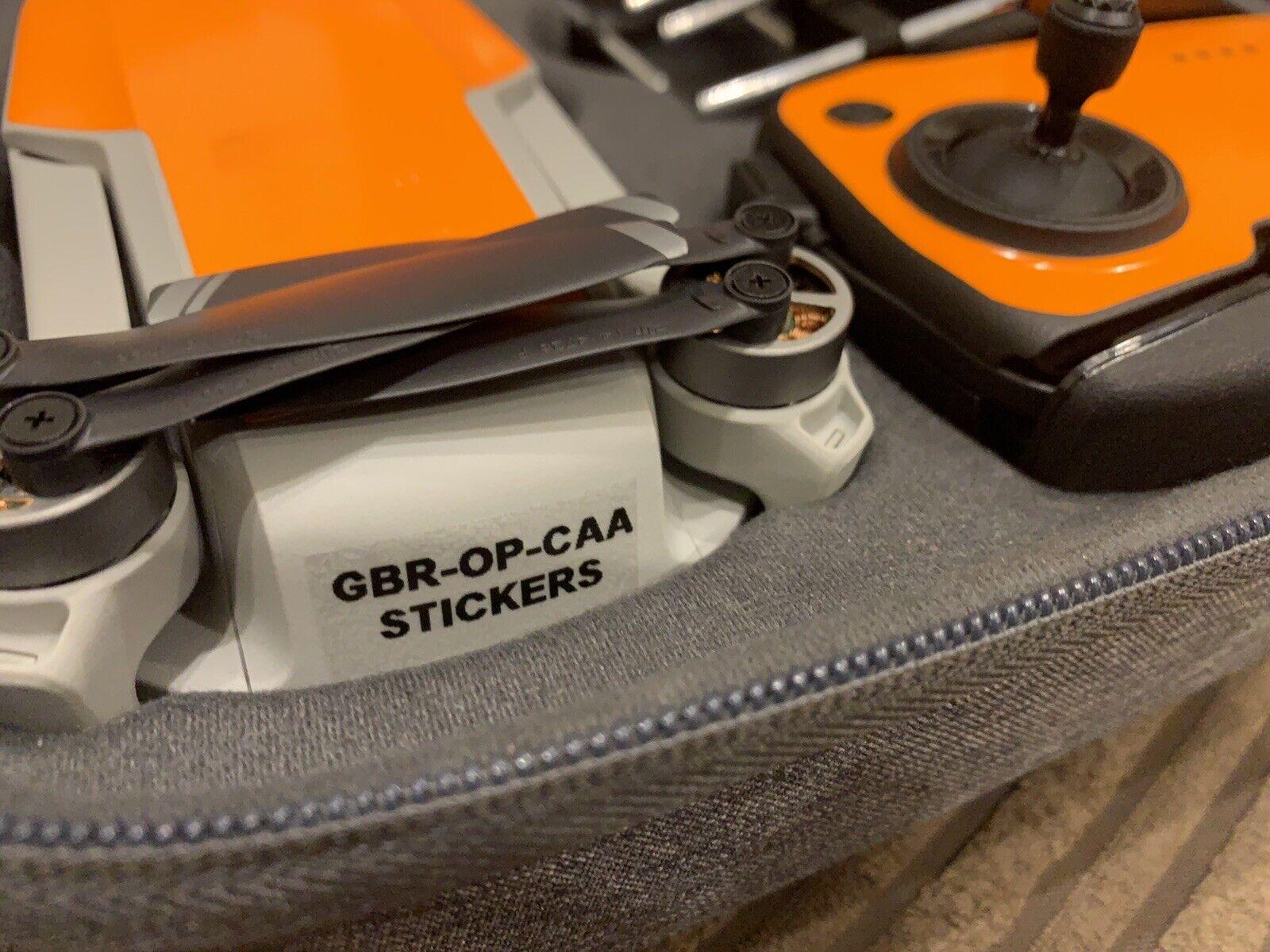 5x Clear Drone Operator ID Labels UK CAA Regulatory Stickers - DJI MAVIC MINI