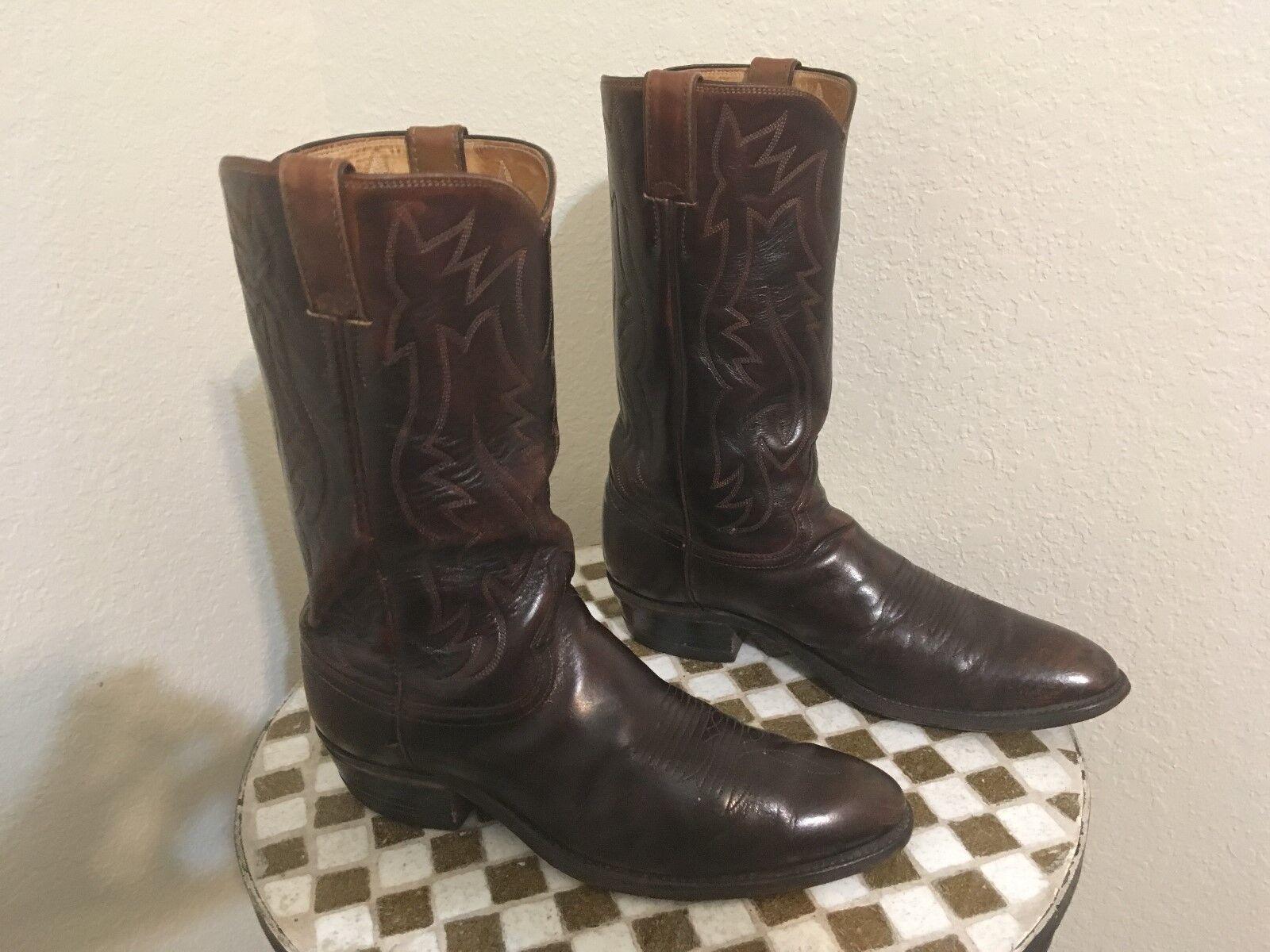 2909 Vintage JUSTIN Rockabilly botas USA envejecido Rancho botas de trabajo 9.5 D