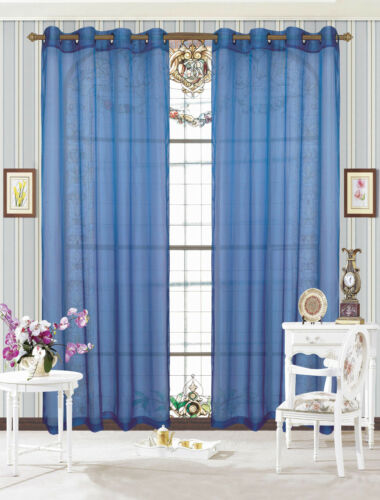 "One Pair Grommet Sheer Panels Certain Window Treatment Drapes 55 W x 84/"" L"
