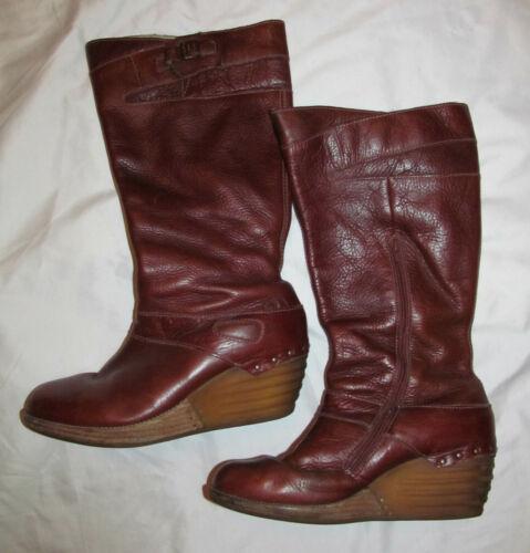 DR MARTENS knee high  AALIYAH wedge boots US 9
