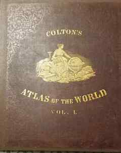 Colton-039-s-Atlas-of-the-World-Vol-I-and-II-1856-1st-Ed-Antique-Book-of-Maps