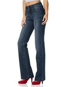 Details zu Arizona High Waist Bootcut Jeans Gr.34 36 NEU Damen Hose Blue Used Stretch Denim
