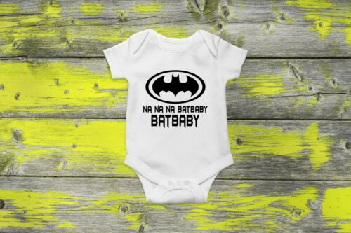 Batman Batbaby Vest Bodysuit Cute Superhero Hero Funny Gift Baby Grow Clothing