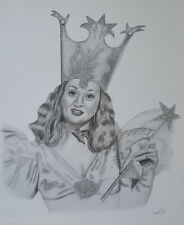 Wizard of Oz Good Witch Pencil Print Art Detailed Drawing Signed Picture Pitcock