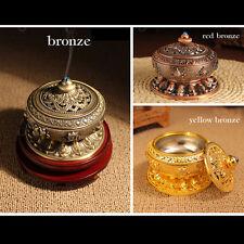 Tibet Religion Buddhist Buddha 8 Symbols Censer Incense Holder Burner