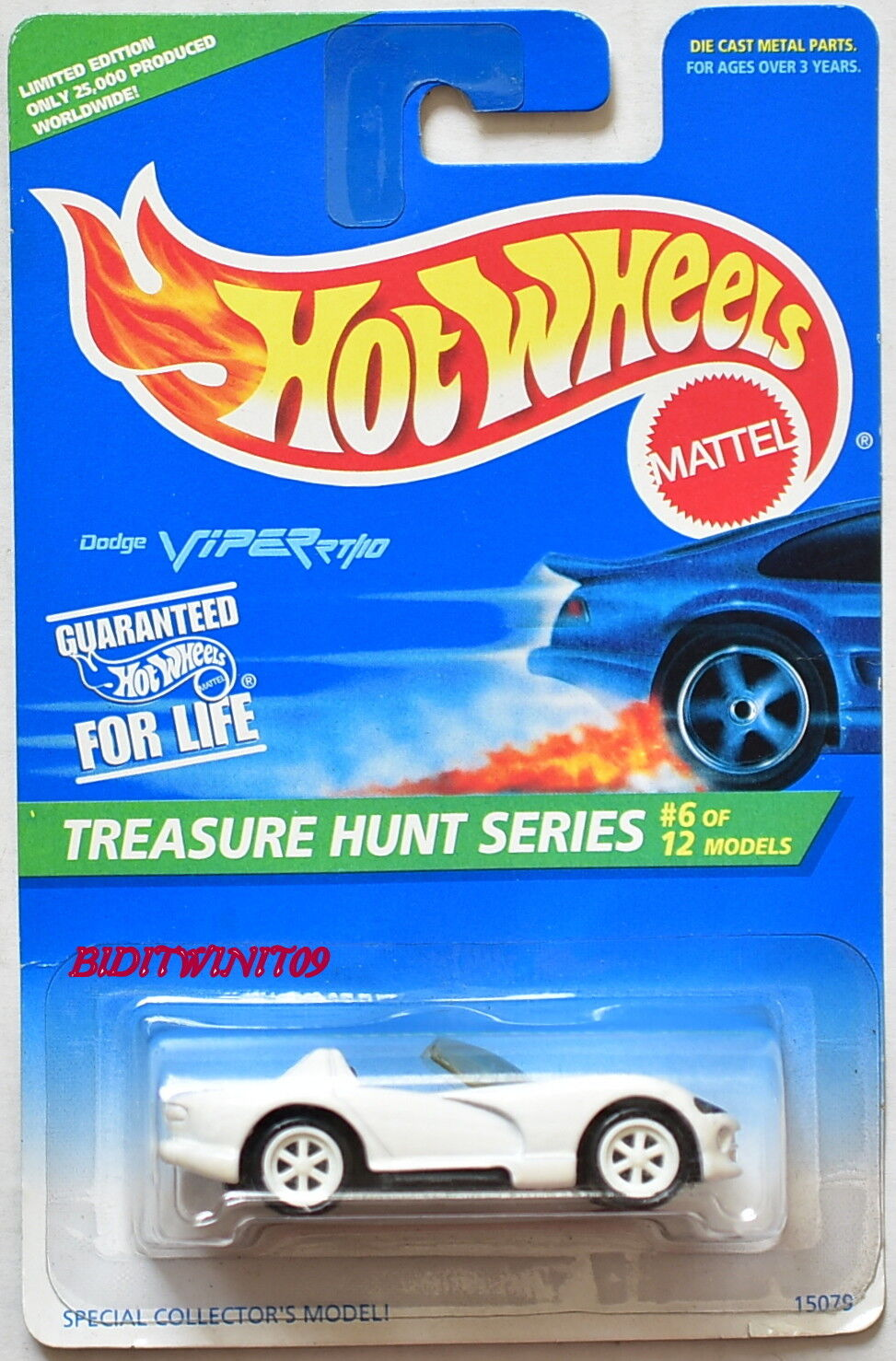 Hot Wheels 1996 Treasure Treasure Treasure Hunt Serie Dodge Viper Rt   10  6 12 blanco con + 1f85f7