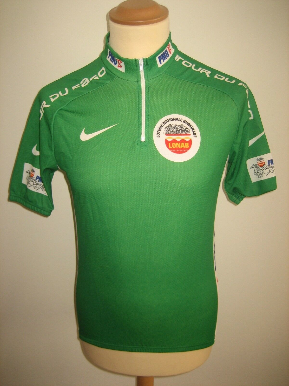 Tour du Faso green jersey  rare shirt cycling maillot trikot Africa size S  just for you