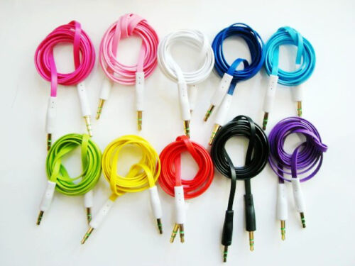Male Stereo Audio AUX Cable for iPhone iPod MP3 Samsung 5x Color 3.5mm Male