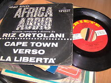 """7"""" OST AFRICA ADDIO RIZ ORTOLANI CAPE TOWN VERSO LA LIBERTA' EX"""