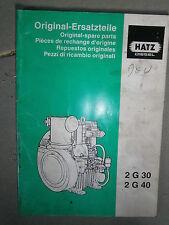 HATZ moteur diesel 2G 30 - 2G 40 : catalogue de pièces