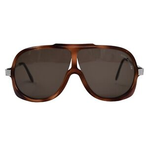 ALPINA Sonnenbrille VINTAGE Pilot 2 Sunglasses Aviator Tortoise Braun Brown  Som