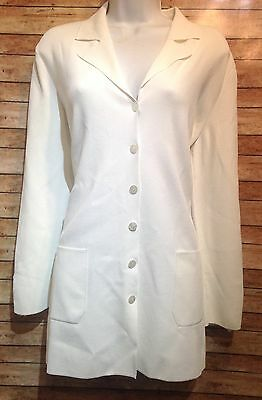 vintage escada white blazer size 42