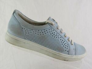 ECCO-Soft-7-Blue-Sz-8-5-39-EU-Women-Leather-Sneakers
