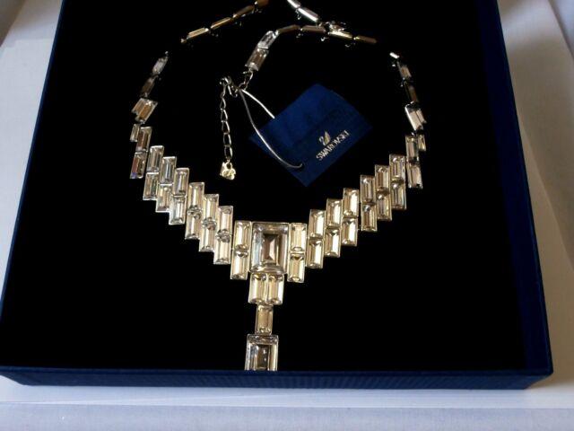 Swarovski Signed Crystal PrimeTime Wedding Necklace in Box