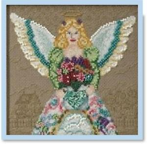 MILL-HILL-JIM-SHORE-Counted-Cross-Stitch-kit-SPRING-ANGEL-JS30-0101