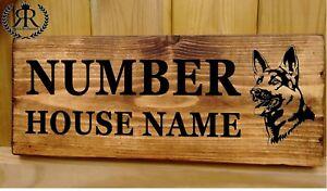 Personalised-Dog-German-Shepherd-Alsatian-House-Name-Sign-Plaque-Kennel-Bed-bowl