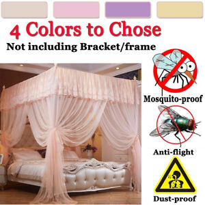 Princess 4 Corners Kid Baby Bedroom Bed Curtain Canopy Mosquito Netting Canopies