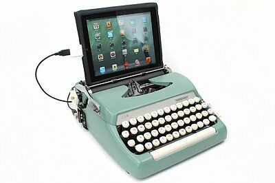 USB Typewriter Computer Tablet Keyboard - Smith Corona Sterling - Sea Foam Green