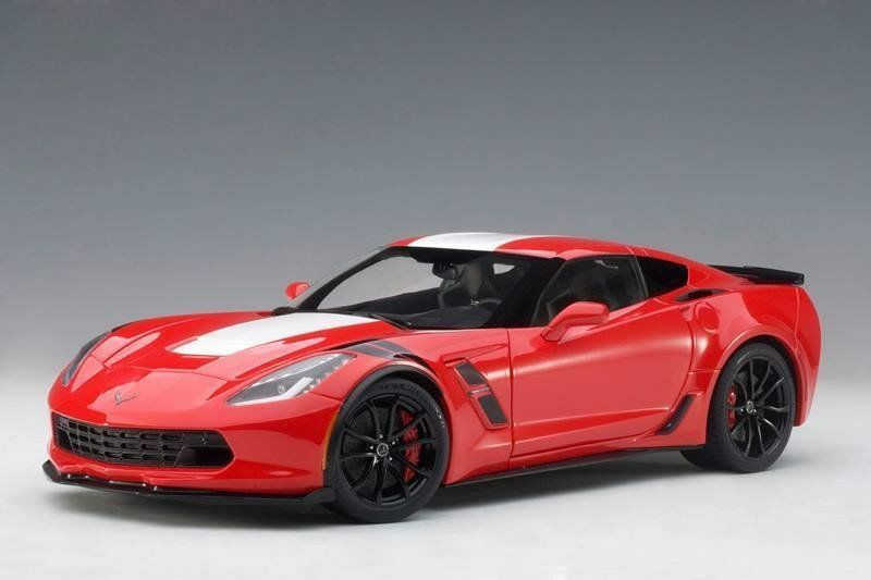 Autoart 2017 Chevrolet Corvette C7 Grand Sport 1:18 71274 Red w White Stripes