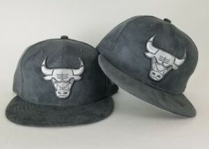 New Era Grey Suede Chicago Bulls 59Fifty Fitted hat Jordan 8 cool ... 911a61ea5e9