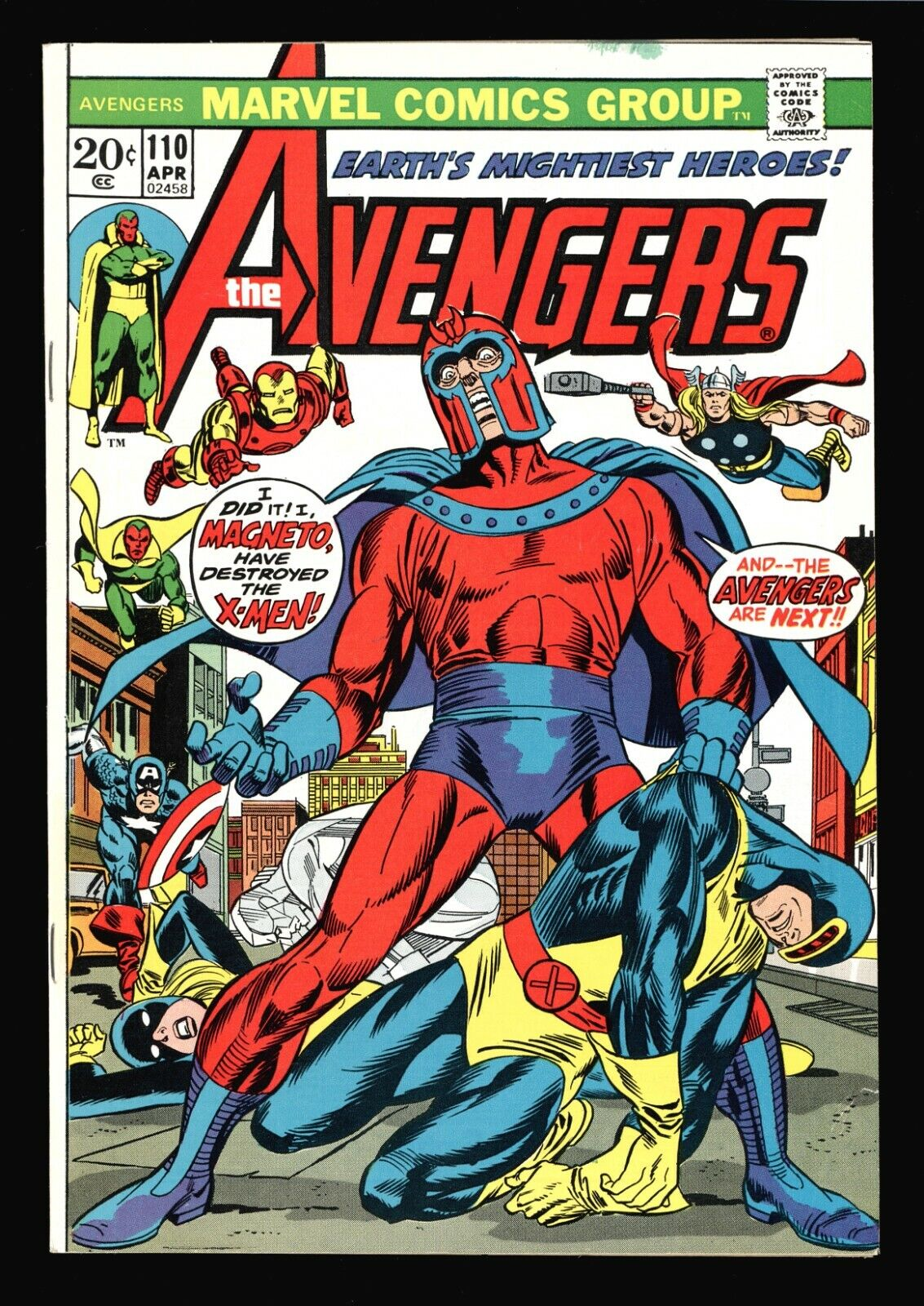 Image 1 - 3-21-AVENGERS-110-VS-MAGNETO-WITH-THE-X-MEN-VISION-AND-S-W