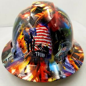 Hard Hat Full Brim Custom hydro dipped DONALD TRUMP MAGA best price ... 848fef19e9e