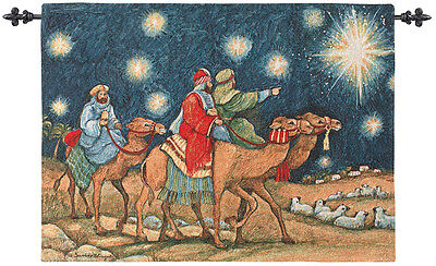 Three Magi ~Three Wisemen Christmas Tapestry Wall Hanging ~ Artist, Susan Winget
