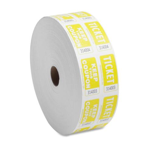 Sparco Ticket Roll Double w//Coupon 2000//RL Yellow 99270