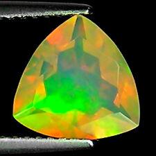 1.40 Ct Natural Ethiopian Faceted Opal Gemstone Multi Color Trillion Cut