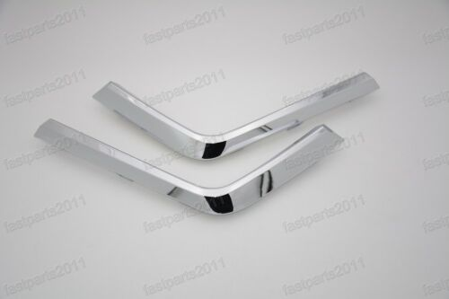 FRONT LOWER BUMPER CHROME MOLDING PAIR LEFT RIGHT For Mitsubishi ASX 2016-ON