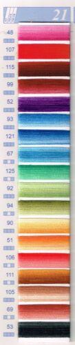 Mouline DMC matassina filo ricamo ROSSO MARRONE cotone tutti colori p croce
