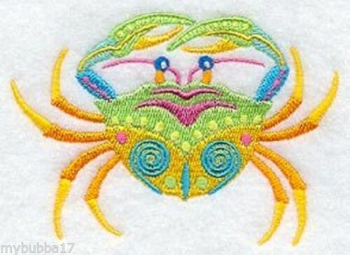 CARIBBEAN CREATURES U PIC SET OF 2 HAND TOWEL EMBROIDER
