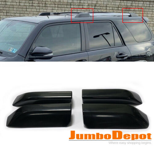 4x Black Roof Rack Cover Rail End Shell Replacement Fit 2010-2018 Toyota 4Runner