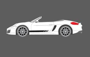 Details about Fits Porsche Boxster Cayman (981) Side stripes Decal Sticker  Set  (S, GTS, etc )
