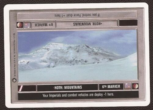 NM//M Hoth EMPIRE STRIKES BACK 2-PLAYER ESB WB star wars ccg swccg Mountains