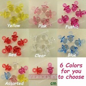 5-200 Acrylic Pacifier Bead Baby Shower Dangle Party Wholesale Pendants Wedding
