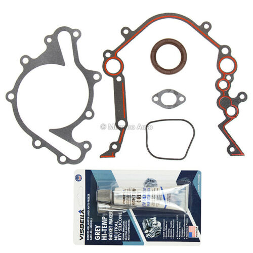 Timing Chain Kit Water Pump Cover Gasket Fit 96-04 Ford Freestar Mercury 3.8 OHV
