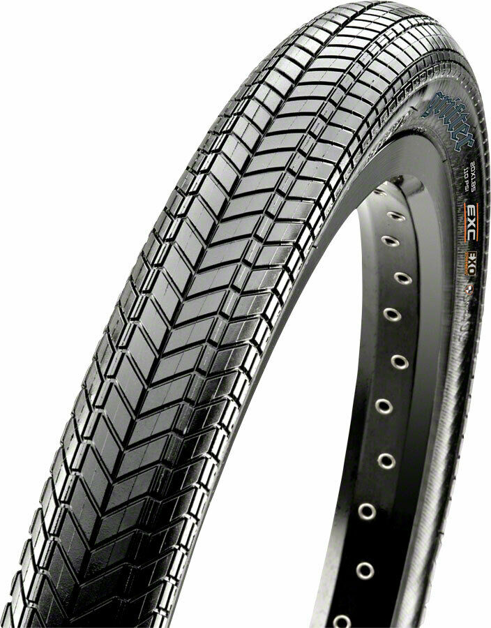 Maxxis Grifter Tire 20 x 2.40, Wire Bead, 60tpi, Dual Compound, SilkShield