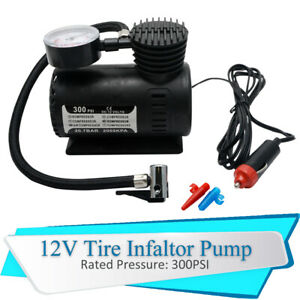 Mini-Electrique-Air-Compresseur-pour-voiture-Pneu-Gonfleur-Pompe-12-V-300-PSI