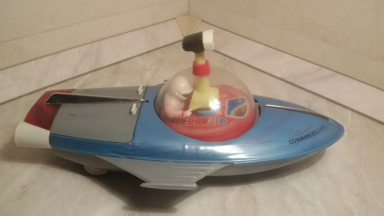 Razzo missile Boat Space commander ship Rocket Vintage TinToy 60s Universe