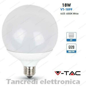 Lampadina-led-V-TAC-18W-115W-E27-bianco-freddo-6000K-VT-1899-globo-G120-bulbo