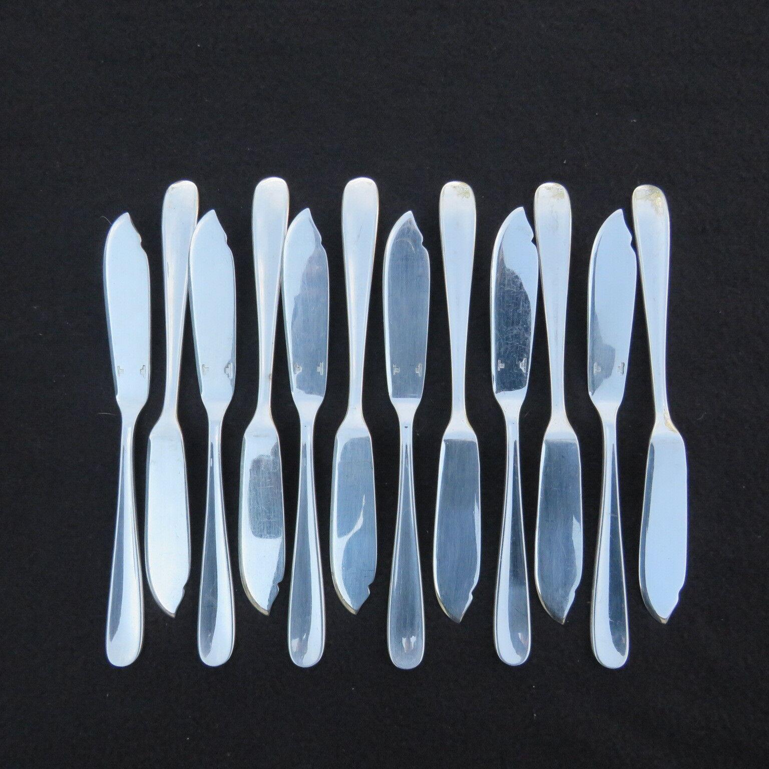 Christofle 12 Messer mit Fisch Versilbertes Metall Modell Dax
