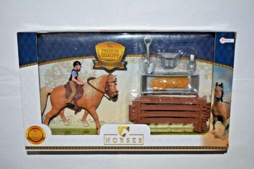 Accessoires et porte environ 12 cm grand 37160 a Cavalière Toi-Toys Cuisine avec cheval
