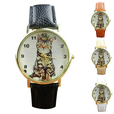 Fashion Women Men Watch Faux Leather Analog Digital Quartz Casual Wrist Watches