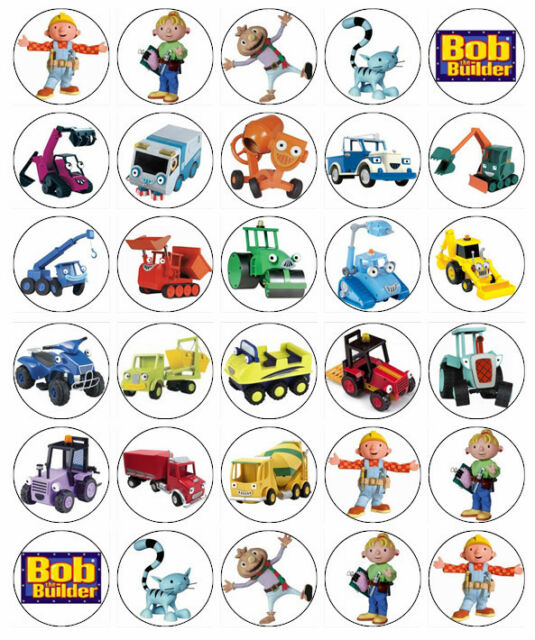 Bob The Builder Cupcake Toppers Edible Wafer Paper Birthday Buy 2