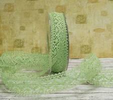 1m Schleifenband Spitze Spitzenband grün Shabby Landhaus Borte Dekoband