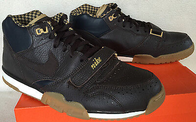 Nike Air Trainer 1 Mid PRM Premium QS 607081-200 Velvet Brown Shoes Men's 12 new