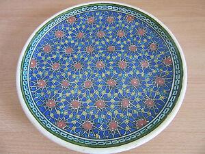 "Vintage/Antique Azim Kutahya Turkish Ottoman empire hand painted wall plate 8.5"""