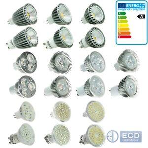 10x 3W 4W 5W 6W 7W 9W GU10 MR16 SMD 60 LED ampoule bulb blanc chaud neutre froid